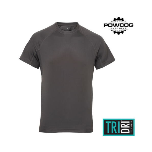 TriDri® panelled tech tee Charcoal