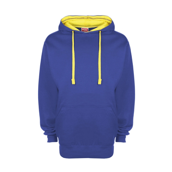 FDM Contrast Hoodie Royal / Empire Yellow