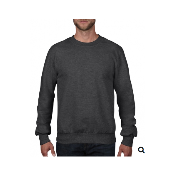 Adult French Terry Crewneck Sweat Heather Dark grey