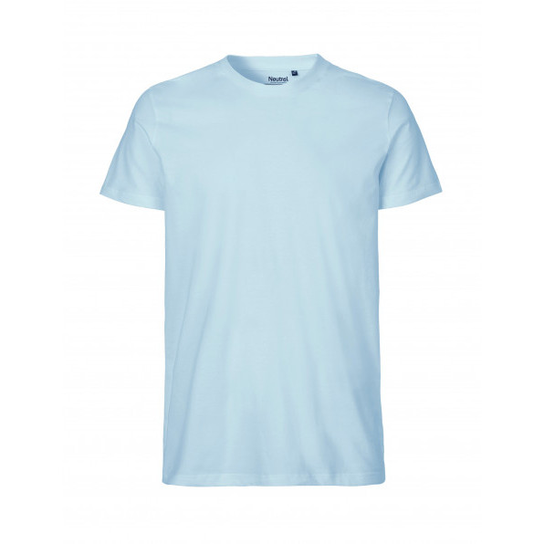 Organic Men`s Fit T-Shirt Neutral Light Blue