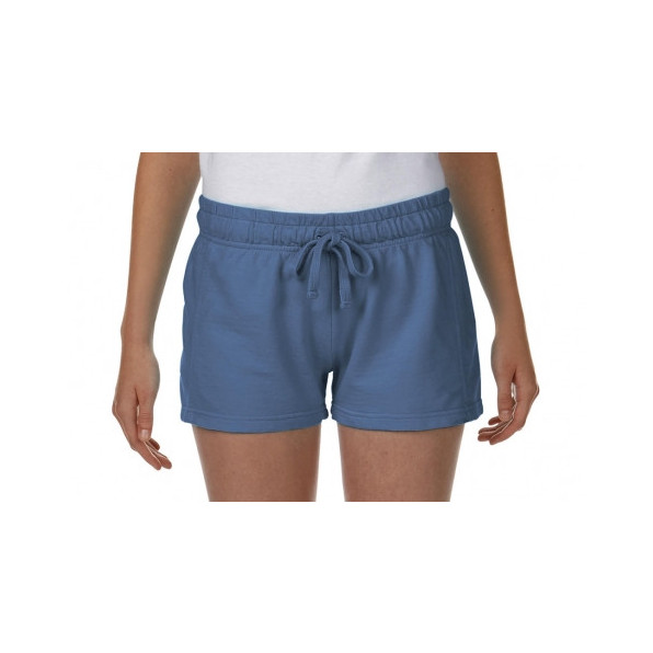 Ladies French Terry Shorts Blue Jean