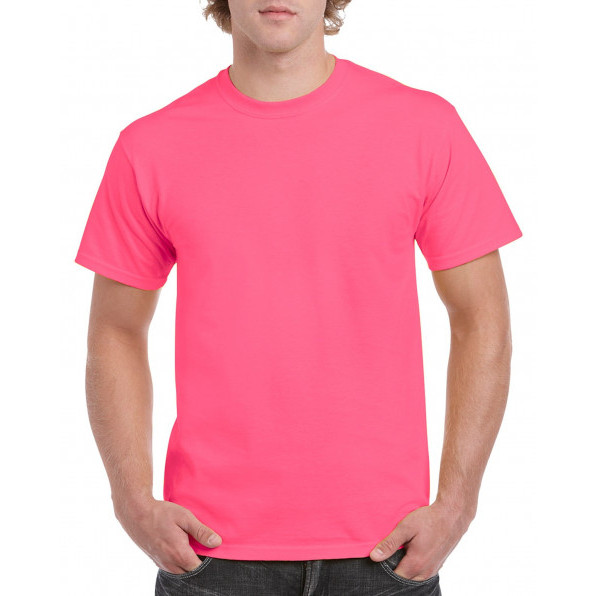 T-shirt Heavy Cotton Safety Pink